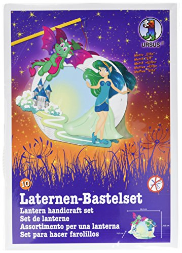 Ursus 18710010 - Laternen Bastelset Easy Line Elfe, ca. 21,8 x 21 x 10,3 cm