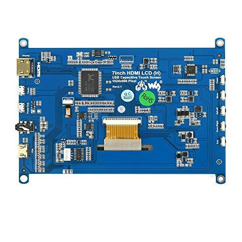 SHANG-JUN Fácil de Montar Pantalla táctil capacitiva LCD 1024 * 600 HDMI Pantalla LCD Pantalla IPS para Jetson Nano Mini PC 7 Pulgadas Conveniente
