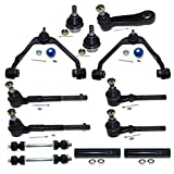 DLZ 13 Pcs Front Suspension Kit-Upper Control Arm Ball Joint Assembly Lower Ball Joint Tie Rod End Adjusting Sleeve Sway Bar Pitman Arm Compatible with Ford F150 RWD 1997-2003, Ford F250 RWD 1998-1999
