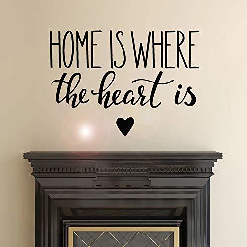 WERWN Cita inspiradora calcomanía de Pared el hogar es el Lugar del corazón Etiqueta de la Ventana de Vinilo Letras Mural Artista decoración del hogar Sala de Estar