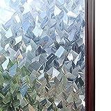 yuyuyu Película Decorativa de Cristal 3D para Ventana de vidriera, Pegatina de Vidrio autoadhesiva extraíble, Papel de Ventana de Vinilo Adhesivo estático, 60x200cm
