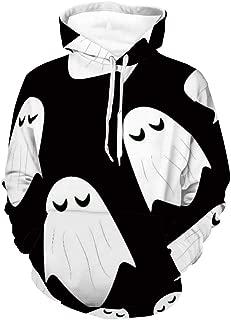 Women Men Hoodie Halloween Ghost Hoodies Sweatshirts for Unisex