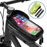 wasserdicht Fahrrad Lenker Aufbewahrungstasche Fahrrad Radfahren Front Top Frame Bag Tasche Fahrrad-Handyhalterung Hihey Fahrradrahmen-Tasche