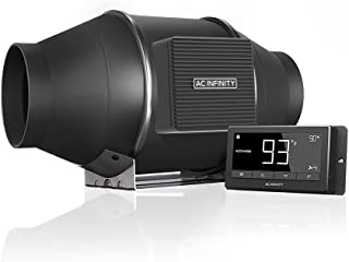 """AC Infinity CLOUDLINE T4, Quiet 4"""" Inline Duct Fan with Temperature Humidity Controller - Ventilation Exhaust Fan for Heat..."""