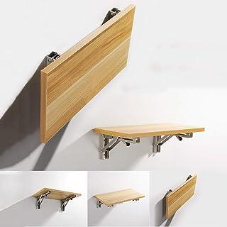 Table murale pliante, table à manger en bois dans la cuisine et la salle de bain, établi et balcon pour enfant, table plia...