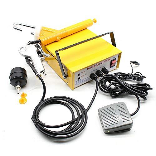 Pulverbeschichtungsgerät Pulverpistole, 3.3W 0.03A PC03-5 25 N/S Tragbare Pulver Glasur System für viele Anwendungen in der Automobil-Schiffs-Haus-und Gartenbranche eignet(Gelb)