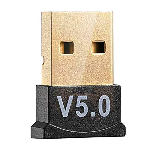 Wivarra USB 5.0 Adaptador Dongle InaláMbrico Receptor EstéReo Remitente de Audio para PC Computadora PortáTil Auricular Transmisor de TV