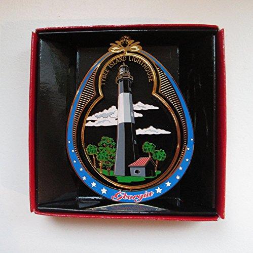 Nations Treasures Tybee Island Lighthouse Georgia Christmas Ornament Souvenir Gift