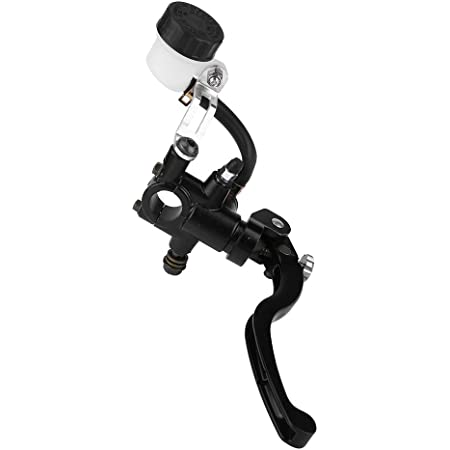 SZMYLED Universal 7//8 22mm Motorcycle Hydraulic Brake Clutch Lever Set with Master Cylinder Reser for Most 50cc-300cc Sport Bike Street Bike Scooter black
