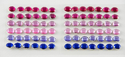 Smoobee Princess Red Purple Beautiful Gem Stickers Adesivi for Customizing The No Cry Hairbrush spazzola per capelli - 72 pieces …