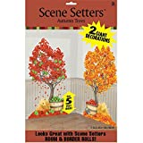 amscan Colors of Fall Thanksgiving Party Autumn Trees Scene Setters Add‑Ons Decoration, Plastic, 65' x 33' Pack of 2
