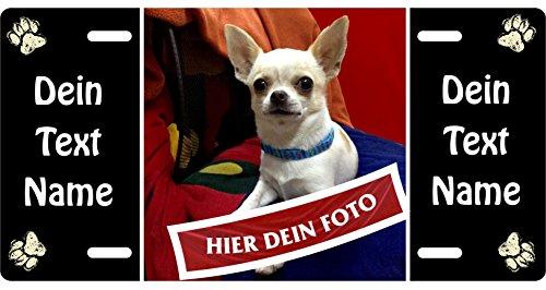 Holashirts Mallorca Hunde-Schild Blechschild mit eigenem Foto, Bild, Text, Metallschild Warnschild Türschild für innen und außen, 305x152mm