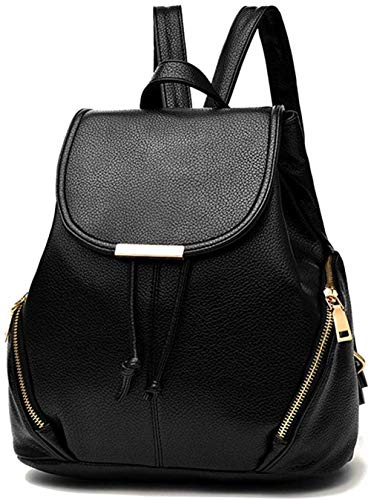 Womens mini backpack wallet pu leather backpack wallet ladies casual shoulder bag school packaging black