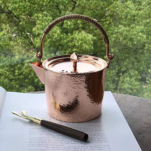 Tetera Tetera martillada de cobre puro, hervidor hecho a mano, vajilla antigua, vajilla-0.5L