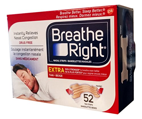Breathe Right Extra Nasal Strip,(TAN), 52 Strips (Value Pack)