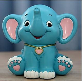 YOIL de Decoración Hucha Cajas de Ahorro Regalo Baby Elephant Piggy Bank Individuality Animal Saving Bank Regalo Infantil Creativo (Azul)