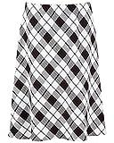 Nightingale Collection Falda de invierno para mujer, recta, con espiguilla y tweed de 27 pulgadas de largo Blanco White Red 3 48