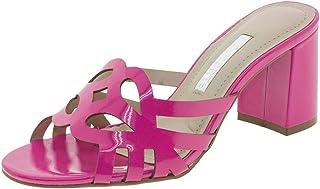 765dd516c3 Tamanco Feminino Salto Médio Via Marte - 1812801 Pink