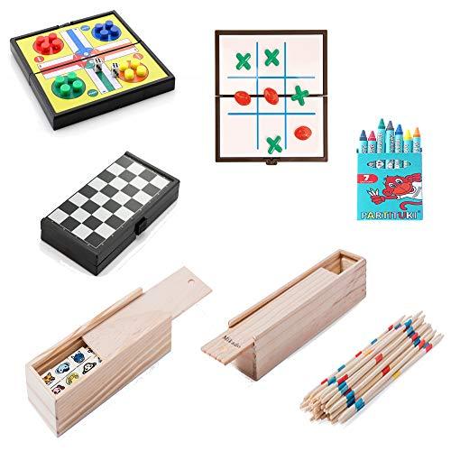Partituki Pack Juegos de Mesa Familiares Incluye: Kit de 7 Ceras, Mini...
