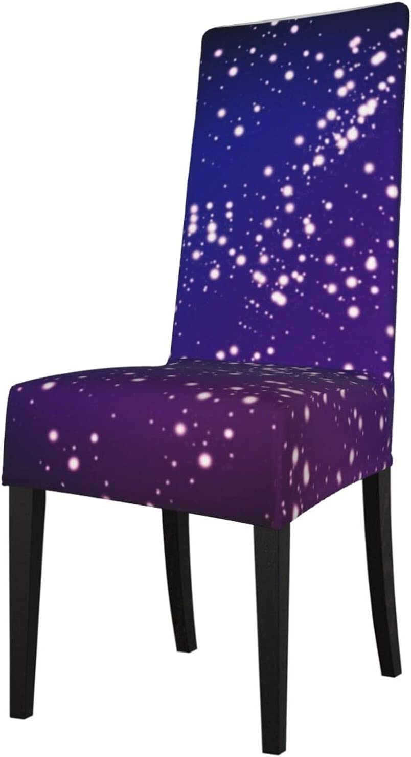 QUAVZI Limited time cheap sale 2PCS Stretch Chair Covers for Don't miss the campaign Purple Dining Room and Blue