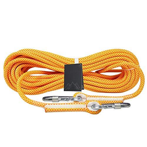HAI RONG Cuerda de seguridad resistente al desgaste, cuerda auxiliar de escape de 10,5 mm/12 mm, doble trenza, 10 m - 80 m para exteriores (color: 12 mm, tamaño: 20 m)