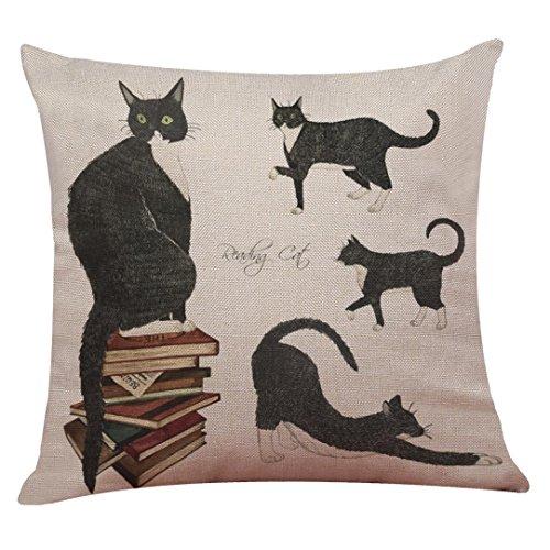 VJGOAL schattige kat sofa thuis decoratie festival kussensloop kussen dekens 43 x 43 cm C