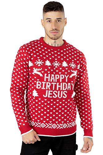 NOROZE Män vuxna nyhet naken jultomte god jul stickad jumper tröja