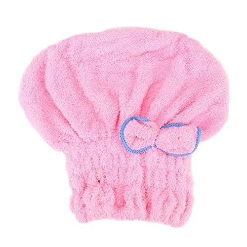 Toallas envueltas Corro de ducha seco rápido Sombrero de pelo Microfibra Baño Hats Hogar textil 5 colores Accesorios de baño Absorbente y secado rápido Señoras Secador de pelo Tapa ( Color : Pink )