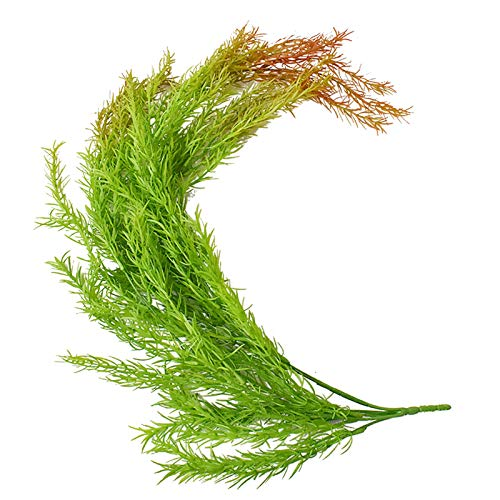 Artificial Greenery Ferns Plants Vines Fake Ivy Hanging Flowers Vine Pine Needle Wall Hanging Simulation Plastic Greenery for Wall Indoor Outdoor Hanging Baskets Wedding Garland Décor
