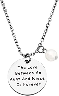 Aunt and Niece Gift The Love Between Aunt & Niece is Forever Bracelet Expandable Charm Bracelet Aunt Niece Jewelry