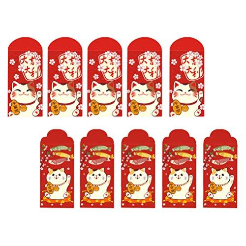 Cabilock 20St 2021 Nyårsröda Kuvert Tur Pengar Packet Våren Festival Kinesiska År Pengar Väskor Lucky Hongbao Mone Kontantkort Lagring Kuverten