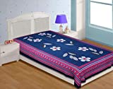 Urban Basics Cotton 100 TC Single Bedsheet (Blue) (BSS063)