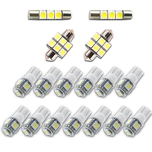 Maidao For Honda Ridgeline Led Interior Lights Led Interior Car Lights Bulbs Kit 2006-2014 White 17Pcs