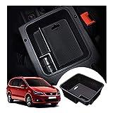 LFOTPP Seat Alhambra Apoyabrazos Consola Central Bandeja, Caja de Almacenamiento Organizador coche Interior Accesorios