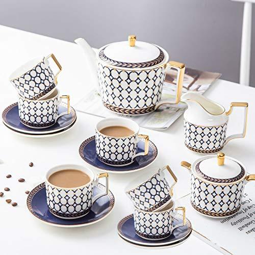 MSNLY Nordic Ins bot china koffiekop en schotel set keramische thee set creatieve middag thee rode theekop koffiekop