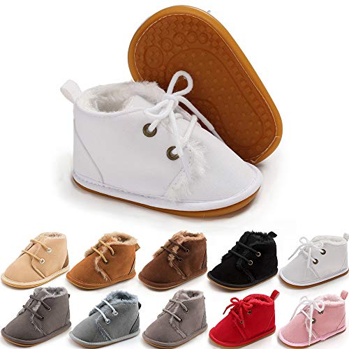 Komfyea (White Children Boots Baby Girl's Short Boots Kids Casual Shoes Rain Boots 608(24, White)