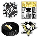 Pittsburgh City Penguin Sport Hockey Logo Die-Cut Sticker Aufkleber Decal Label - Set of 4 Pieces -...