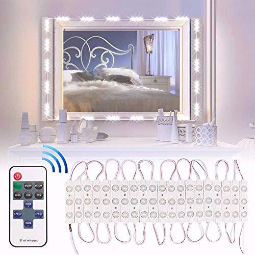 Jtoony Hollywood Ledlamp, badkamerspiegellamp, dimbaar, waterdicht licht voor verlichte make-up kaptafel met afstandsbediening, vanity-lampen