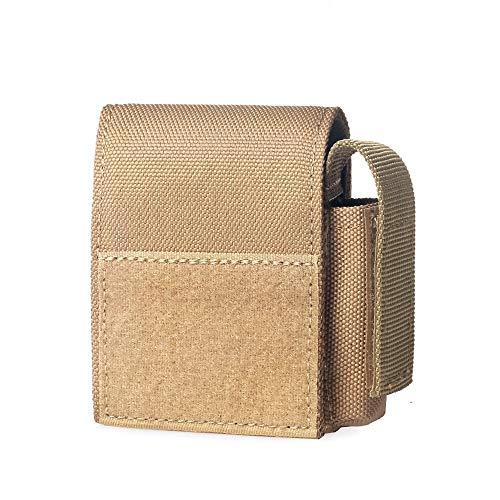 WYNEX Tactical Cigarette Pouch, Molle Batterietaschen Compact EDC Batterie Feuerzeug Aufbewahrungstasche Feuerzeug Slot Mini Cigar Waist Pack
