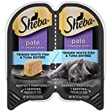 SHEBA PERFECT PORTIONS 2.6 oz. Pate, Tender Whitefish and Tuna Entrée Wet Cat Food Trays (24 Twin...