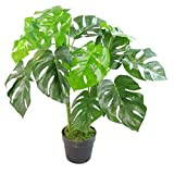 Maceta Artificial Monstera (80 cm), Color Negro