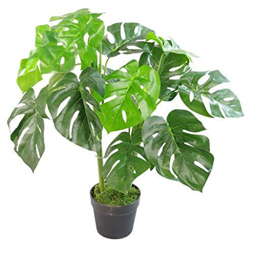 Blad Kunstmatige Monstera Plant 80cm Zwart Pot