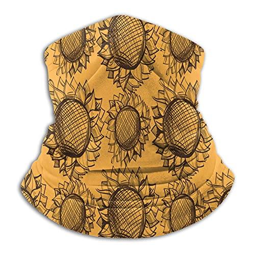 Más cálido cuello polaina retro girasol amarillo máscara para hombres mujeres bandanas para pesca caza deportes