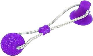 RoSoy Juguete Multifuncional para mordedura de Molar para Mascotas Juguete de Bola de Perro de Estilo de Ventosa Resistente a la masticación