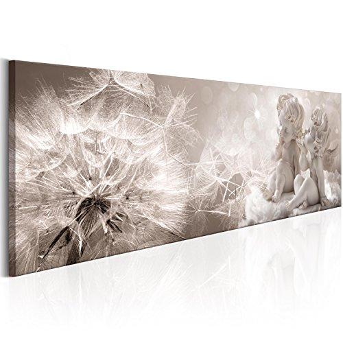 murando Quadro 120x40 cm - 1 pezzo Stampa su tela in TNT XXL Immagini moderni Murale Fotografia Grafica Decorazione da parete Fiori Angelo Natura Grigio Beige b-A-0348-b-a