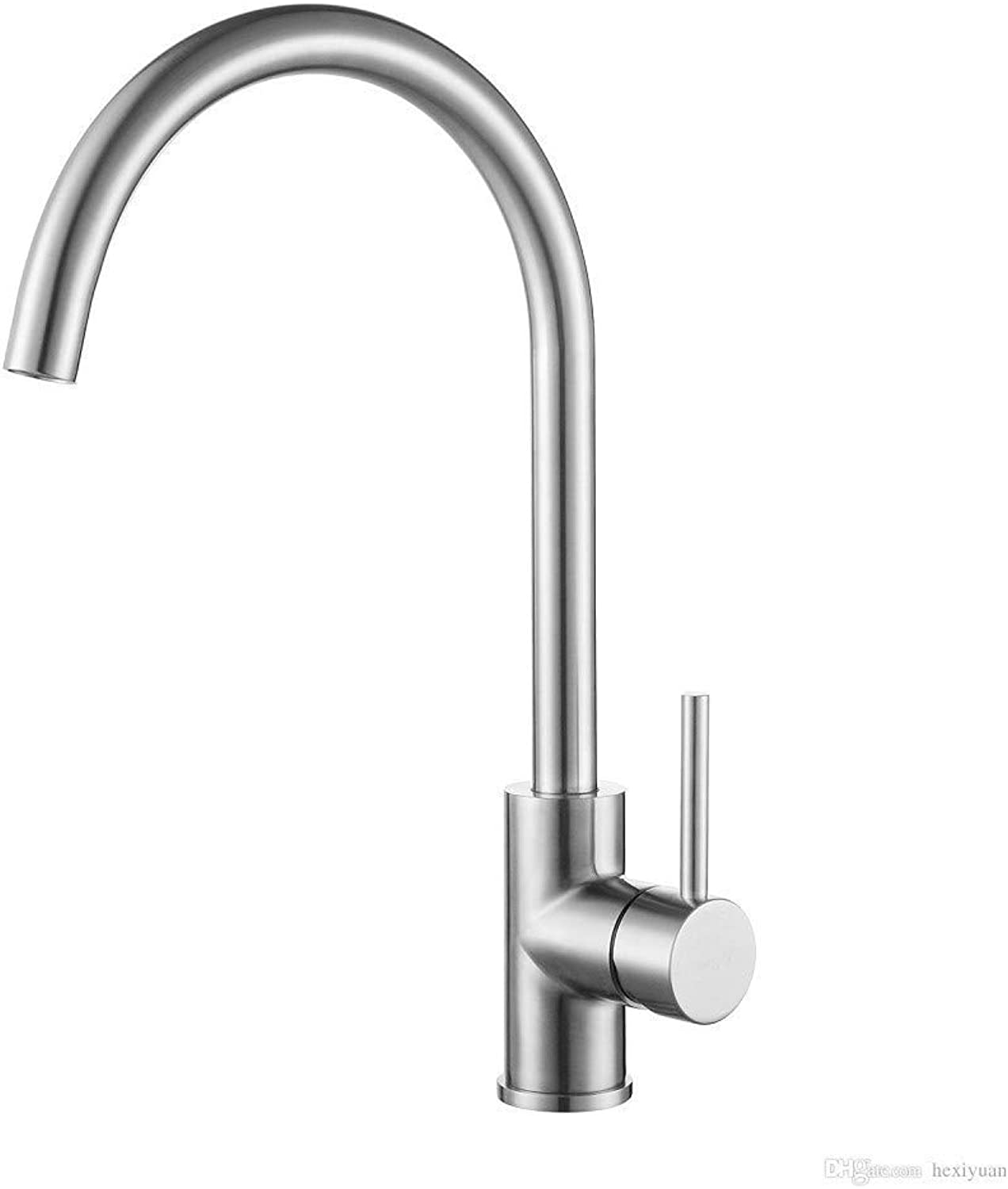 Oudan 304 Stainless Steel Sink Basin Sink Hot and Cold Faucet (color   -, Size   -)