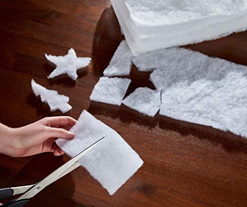 2X Vlies, weiß, 200x50 cm, Dekosschnee, Bastelvlies, Bastelstoff, DIY Stoff