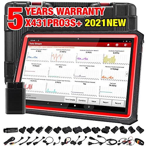 LAUNCH X431 PRO3S+ 2021 Elite Ver. Bi-Directional Scan Tool,31+ Reset Service OE-Level Full System Diagnostic Scanner,Key Program,ECU Online Coding,Guided Function,AutoAuth for FCA SGW,Free Update