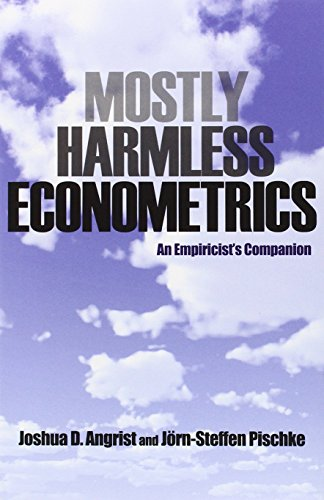 Compare Textbook Prices for Mostly Harmless Econometrics: An Empiricist's Companion 1 Edition ISBN 8601300372600 by Angrist, Joshua D.,Pischke, Jörn-Steffen