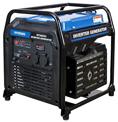 HYUNDAI Generador inverter HY4000i D (generador de corriente inversor, generador de gasolina portátil con 3,8 kW de potencia máxima, generador de emergencia)